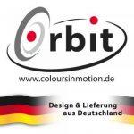Mobile en acier inoxydable - ORBIT SPIRAL TAIL RED - 7 x 28 cm - Bille colorée Ø 5 cm - inclus fil en nylon, crochet et émerillon à roulement à billes de la marque CIM image 1 produit