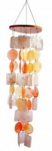 Mobile feng shui carillon éolien en nacre et coquillage jaune orange 75 cm de la marque Klangspiel image 0 produit