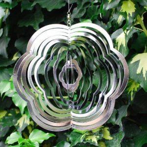 Mobile à vent fleur en acier à suspendre, pour le jardin de la marque Gardens2you image 0 produit