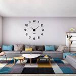 Moderne Mute DIY Frameless Grand 3D Horloge Murale Miroir En Métal Autocollant Grand Montres Home Office Décorations (noir-42) de la marque Vangold image 2 produit
