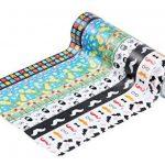 Mooker 24rouleaux de ruban adhésif de masquage décoratif, pour bricolage et emballage cadeau de la marque Mooker image 3 produit