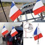 Moto support de mât pour drapeau et 6x 9Drapeau France pour Honda Goldwing CB VTX CBR Yamaha Harley Davidson de la marque BOXWELOVE image 1 produit