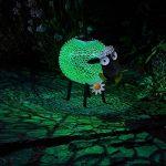 Mouton Avec Marguerite Lumineux Solaire en Métal Noir et Blanc LED Éclairage Blanc et Couleur Changeante 26cm Hauteur de la marque Smart Garden image 2 produit