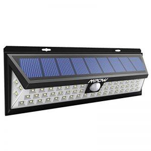 Mpow 54 LED Lampe Solaire Extérieur Etanche 800 Lumens Luminaire Exterieur/LED Solaire 270° Grand Angle Détecteur de Mouvement et Panneau Solaire pour Pati, Jardin, Cour, Chemin, Escaliers, Cloture de la marque Mpow image 0 produit