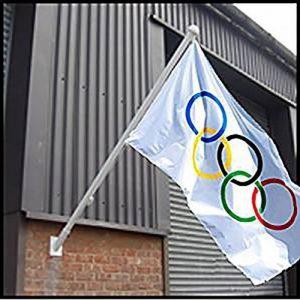 Mât en aluminium pour drapeau, 1,8m, mât à fixation murale, accessoires et fixations inclus de la marque The Flagman image 0 produit