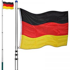 Mât télescopique alu drapeau Allemagne 630 cm hampe jardin mât de hissage pylône de la marque Deuba image 0 produit