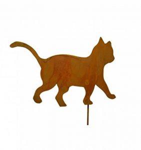 """'Métal Michl patine Fiche chat enfant """"tapsend Jardin/Animaux Figurine en métal rouille de la marque Metallmichl image 0 produit"""