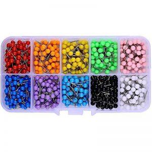 Multicolore épingles tête (Tête 4mm de diamètre, aiguille Longueur, 15mm) 600pièces, assortis, couleurs de la marque Besttoyeye image 0 produit