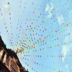 Multicolore fanions 100m 150drapeaux en nylon Guirlande Fanion Banderole Triangle Drapeau de décoration pour mariage fête d'anniversaire Jardin de la marque Joykey image 3 produit