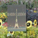 MUMIMI Français Tour Eiffel Jardin Drapeau 30,5x 45,7cm 2Côtés Yard Décoration Polyester Outddor Drapeau, multicolore, 28x40(in) de la marque MUMIMI image 1 produit