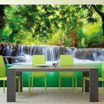 Murale Cascade Feng Shui - Décoration murale vacance paradisiaque dans une Forêt Tailandaise en Asie avec Wellness Spa Relax | murale photo mur deco chez GREAT ART (336 x 238 cm) de la marque GREAT ART image 1 produit