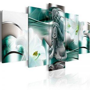 murando - Impression sur toile - 100x50 cm - 5 pieces - Image sur toile - Images - Photo - Tableau - motif moderne - Décoration - tendu sur chassis - Bouddha Fleur Lilie h-A-0028-b-n de la marque BD XXL image 0 produit