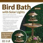 My Garden Path Abreuvoir et mangeoire pour oiseau effet bronze avec lampe solaire de la marque Parkland image 2 produit