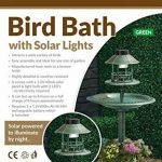 My Garden Path Abreuvoir et mangeoire pour oiseau en cuivre avec lampe solaire Vert de la marque Parkland image 1 produit