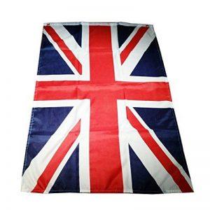 My London Souvenirs Drapeau du Royaume-Uni, 150 x 90 cmAvec 2 œillets.Emballage de haute qualité.Accessoire élégant et polyvalent, drapeau de collection.Convient pour une utilisation en extérieur comme en intérieur.Souvenir du Royaume Uni inoubliable et é image 0 produit