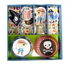 My Parti Pirate Motif pirate Party Cakes et Parti Pirate gâteau Drapeaux-Lot de 24cas & drapeaux de la marque Buzz image 0 produit