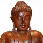 MYSTERY Mountain en bois sculpté à la main Statue de Bouddha assis méditation, bois, marron, 18x 30x 40cm de la marque Mystery Mountain image 1 produit