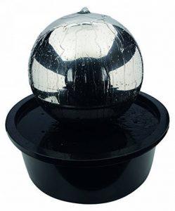 Naeve Leuchten Fontaine à LED pour extérieur avec boule en acier inoxydable, acier inoxydable, 57x 57x 56cm, 518750 de la marque Naeve Leuchten image 0 produit