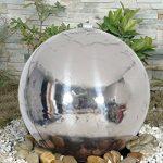 Naeve Leuchten Fontaine à LED pour extérieur avec boule en acier inoxydable, acier inoxydable, 57x 57x 56cm, 518750 de la marque Naeve Leuchten image 2 produit