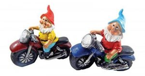 Nain de jardin de moto Lot de 2multicolore Céramique–2Kultpiercing nains à un prix de la marque Unbekannt image 0 produit
