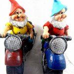 Nain de jardin de moto Lot de 2multicolore Céramique–2Kultpiercing nains à un prix de la marque Unbekannt image 3 produit