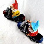 Nain de jardin de moto Lot de 2multicolore Céramique–2Kultpiercing nains à un prix de la marque Unbekannt image 4 produit