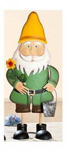 Nain de jardin en métal Figurine Décoration de jardin Nain de jardin debout avec seau, 17x 20x 58cm de la marque Gilde image 0 produit