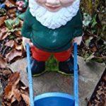 Nain de jardin ~ Gareth ~ Fat Gnome avec brouette de la marque Pixieland image 3 produit