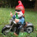 Nain de jardin Rocker sur moto PVC résistant aux chocs Nain–Figurine Fabriqué en Allemagne de la marque RAKSO image 1 produit