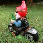 Nain de jardin Rocker sur moto PVC résistant aux chocs Nain–Figurine Fabriqué en Allemagne de la marque RAKSO image 2 produit