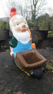 Nain de jardin ~ Roy ~ avec brouette Pot de fleurs de la marque Pixieland image 0 produit