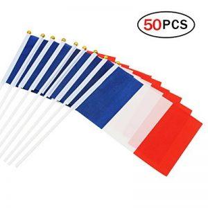 Naisidier Pays drapeaux à manivelle utilisés pour diverses célébrations taille 14cm * 21cm 50 par ensemble de la marque Naisidier image 0 produit