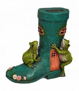 Neuf Creative Rain Boot & Frog Fairy Maison solaire Statue de jardin de la marque New Creative Enterprises image 0 produit