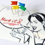 OfficeTree ® Lot de 100 épingles drapeau en 5 coloris assortis - parfaites pour marque des cartes / cartes du monde / tableaux - avec boîte de rangement pratique de la marque Office Tree image 4 produit
