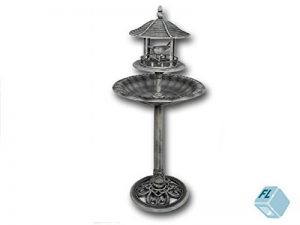 Oiseaux Hôtel 'Lovely Bird' Hauteur: 111cm, gris pierre, detailreich travaillé, en plastique, abreuvoir pour oiseaux Bain oiseaux mangeoire oiseaux gris de la marque Unbekannt image 0 produit