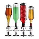 oneConcept Hazzlehov Quartett Distributeur de boisson mural (fontaine pour bouteilles de 0,7 à 1L, dosage shot 4cl, 4 bouteilles, changement rapide des têtes) de la marque OneConcept image 1 produit