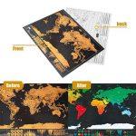 Osup Carte du Monde à Gratter XXL avec des drapeaux, Carte du Monde a Gratter Scratch le monde Scrape off World Map pour Voyage Nouvelle Version, 82 x 60cm de la marque Osup image 6 produit
