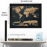 Osup Carte du Monde à Gratter XXL avec des drapeaux, Carte du Monde a Gratter Scratch le monde Scrape off World Map pour Voyage Nouvelle Version, 82 x 60cm de la marque Osup image 1 produit