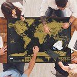 Osup Carte du Monde à Gratter XXL avec des drapeaux, Carte du Monde a Gratter Scratch le monde Scrape off World Map pour Voyage Nouvelle Version, 82 x 60cm de la marque Osup image 2 produit