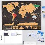 Osup Carte du Monde à Gratter XXL avec des drapeaux, Carte du Monde a Gratter Scratch le monde Scrape off World Map pour Voyage Nouvelle Version, 82 x 60cm de la marque Osup image 3 produit