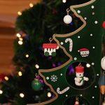 OULII Petit Sapin de Noel en Bois avec Suspension Noel Deco Noel Vert 30CM de la marque OULII image 3 produit