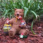 Ours et gnomes miniatures avec miel, une statue de nain de jardin pour votre jardin enchanté de la marque GlitZGlam image 3 produit