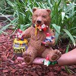 Ours et gnomes miniatures avec miel, une statue de nain de jardin pour votre jardin enchanté de la marque GlitZGlam image 5 produit