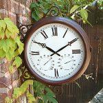 Outside In Designs Greenwich Horloge de jardin avec cadran style gare 34,5 cm de la marque Outside In Designs image 6 produit