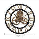 OviTop 60cm Horloge Murale XXXL Pendule Industriel Horloge Silensieuse Horloge Decorative pour Salon, Salle, Chambre, Bureau de la marque OviTop image 1 produit