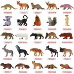 Pack de 25 Figurines Animaux Sauvages réalistes en plastique vinyl (10 cm). Lot de jouets d'apprentissage jungle et animaux de la forêt par ValeforToy pour garçons, filles, enfants et bambins. de la marque Zoo World image 3 produit