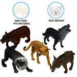 Pack de 25 Figurines Animaux Sauvages réalistes en plastique vinyl (10 cm). Lot de jouets d'apprentissage jungle et animaux de la forêt par ValeforToy pour garçons, filles, enfants et bambins. de la marque Zoo World image 4 produit