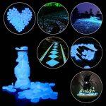 PAMIYO Pierre Lumineuse Exterieur, 120 pcs Artificiels Galets Fluorescent Décoration pour Jardin Chemin Piscine Aquarium Éclairage de Nuit Bleu de la marque PAMIYO image 1 produit