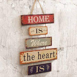 Pancarte Suspendre en Bois Plaque Design Vintage Décoration Maison Signs pour Home Café de la marque HUABEI image 0 produit