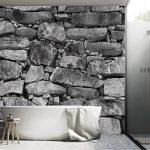 PAPIER PEINT PHOTO ,,Black & White Stonewall 103' 366cm x 254cm pierre brique colle inclu PHOTO MURAL Tableaux muraux déco XXL de la marque livingdecoration image 3 produit